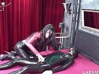 Dominant forced holler keep out for submissive latex wankers