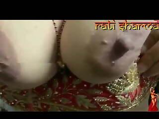 Beautiful boobs, girl shows nipple, Hindi audio