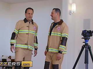 Stunning Babe Brandi Love Seduces A Young Fireman's Big Cock