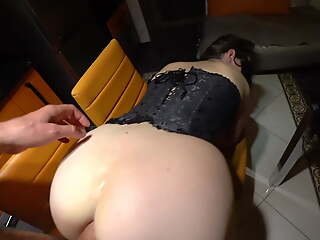 Facefuck and Anal Sex after Play to Butt Plug