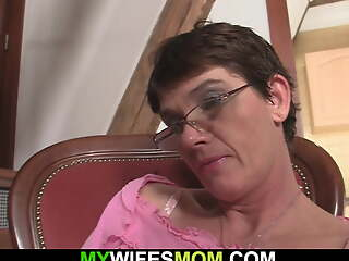 Cock-hungry old old woman in sketch begging for sex