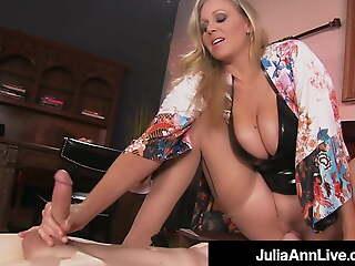 Super Hot Materfamilias Julia Ann Rides Slave Boy's Face With Moist Muff