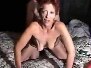Most assuredly hot grandma with saggy tits gets fucked doggystyle