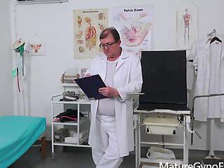 Freaky doctor examines BBW peasant woman