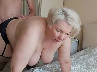 Mom on all fours