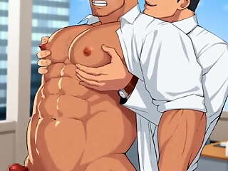 Bodybuilder Cartoon bara #1