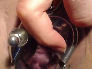Speculum,show and touch my cervix save for