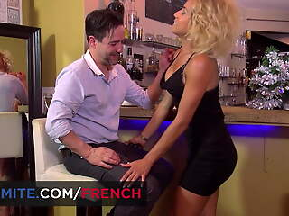French bartender having hot anal intercourse with Rose Valerie