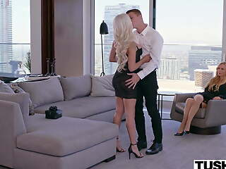 TUSHY, Elsa enjoys anal with Kayden's boy-toy as she watches