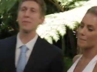 Sexy blonde bride fucking