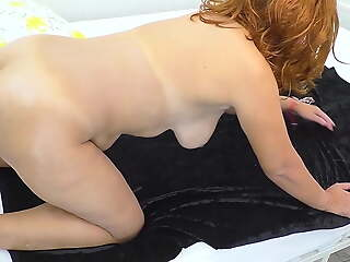 Adult mom with broad in the beam ass gave son a blowjob and had anal making love