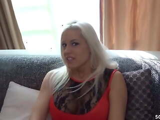 German Bombshell Blanche, Real Amateur POV Sex After Party
