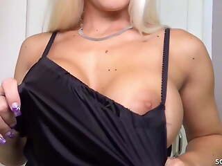 German Mother Blanche Seduces Virgin Stepson be advisable for POV Fuck