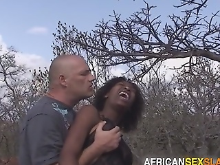 Ebony Girl Tied, Punished added to Fucked Hard In Forest