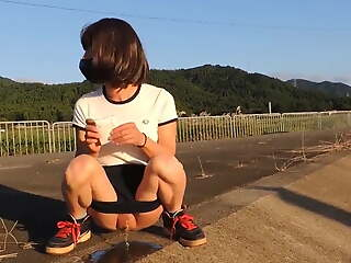 Tucked Asian CD Outdoor Piss 2