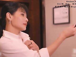 Chinese AV originals, Madou Studio. Sexy boss punishes staff member