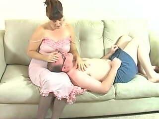 Mommy punishing son