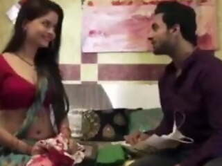 Desi husband cheated aloft his wife by fucking their maid