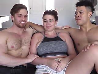 Beautiful bisexual threesome
