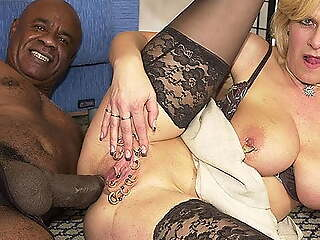 pierced milf ass fucked wits a black monster cock