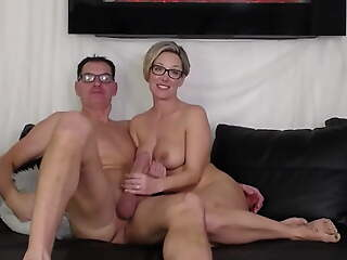 Family team of two filming their sex on webcam