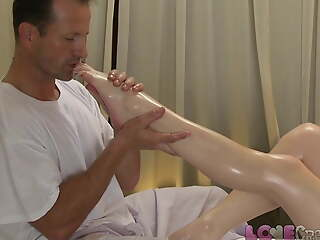 Adore Creampie – Young redhead is stretched wide open