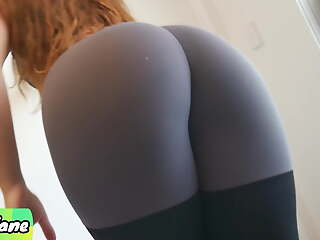 Cute and Fit Stepsis Makes Me Cum In the air Her In US breeks and Leggings