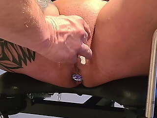 CrazyFetishCouple - Hot piss session on put emphasize gyno chair