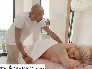 Naughty America - Ryan Conner pulls broadly masseuse's horseshit
