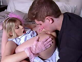 Cutie blonde teen Coco Loveclock humps similarly to seek reject weight bunny while riding his boyfriends huge thick cock.