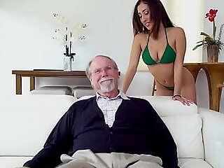 BANGBROS - Latin Teen Kira Perez Gets Pounded Wide of Torrid Old Pervert Jack Moore