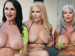 granny's best friends have a sex party