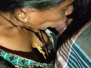 Desi Aunty Giving Hot Blowjob to Uncle
