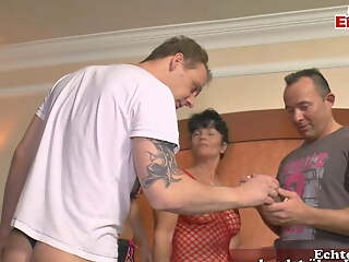 German swinger couple sharing with video