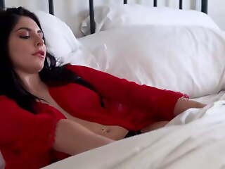 I non-appearance to fuck my stepmother coupled with fill her with milk