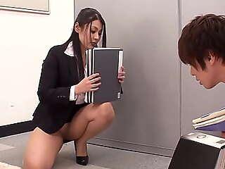 粗毛 放 强调 日语 办公室 荡妇