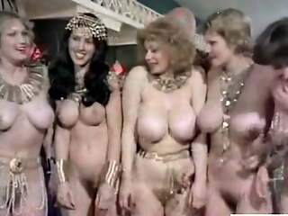 Orgy in the big-boobed harem, upscaled to 4K