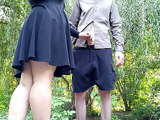 I was masturbating and a alien helped me cum outdoors