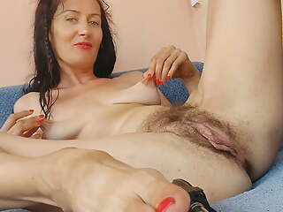 I'll touch yourself and you jerk off on me. Hairy pussy
