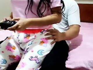 Playing games with stepbrother fucking stepsister