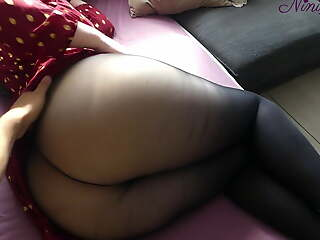 Stepson fucks Stepmom after seeing their way Big Jam-packed with sexy skirt