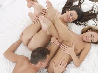 Love triangle around bed