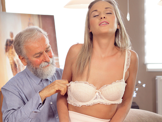 Nice cock of old teacher was girl point of slutty loveliness
