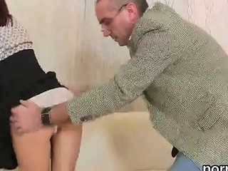 Kissable schoolgirl gets seduced and penetrated off out of one's mind her older tutor