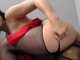 Teen slut milks big flannel
