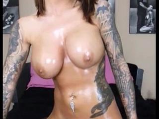 Oiled-up TEEN Karma Rx on Sybian Sex Machine--Big Orgasm